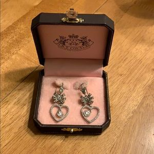 Juicy couture Heart and bow earrings